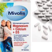 Комплекс витаминов для костей Mivolis магний, кальций и D3 45 шт