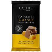 Шоколад молочный Cachet карамель с морской солью 300 г