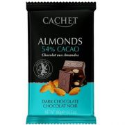 Шоколад черный Cachet Миндаль 54% 300 г