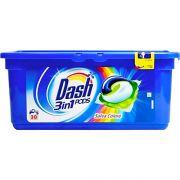 Капсулы с защитой цвета для универсальной стирки Dash Color 30 шт