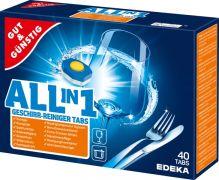 Таблетки для посудомоечных машин Edeka All in One 40 шт