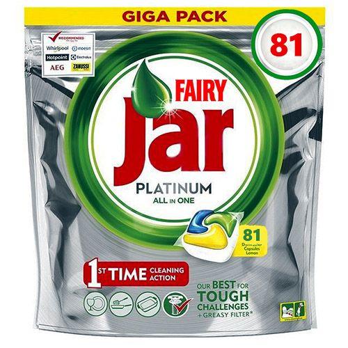 Капсулы для посудомойки Jar Platinum All in One Lemon 81 шт