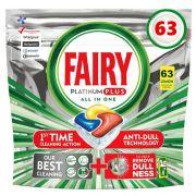 Капсулы для посудомойки Fairy Platinum All in One Plus 63 шт