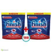 Таблетки для посудомоечной машины Finish All in One MAX 188 шт