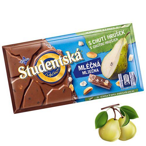 Шоколад молочный с грушей и арахисом Studentska Pecet 180 г