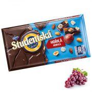 Шоколад черный с изюмом и арахисом Studentska Pecet 180 г