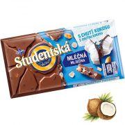 Шоколад молочный с кокосом и арахисом Studentska Pecet 180 г