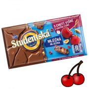 Шоколад молочный с вишней и арахисом Studentska Pecet 180 г