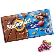 Шоколад молочный с изюмом и арахисом Studentska Pecet 180 г