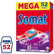 Таблетки для посудомоечной машины Somat All in 1 52 шт